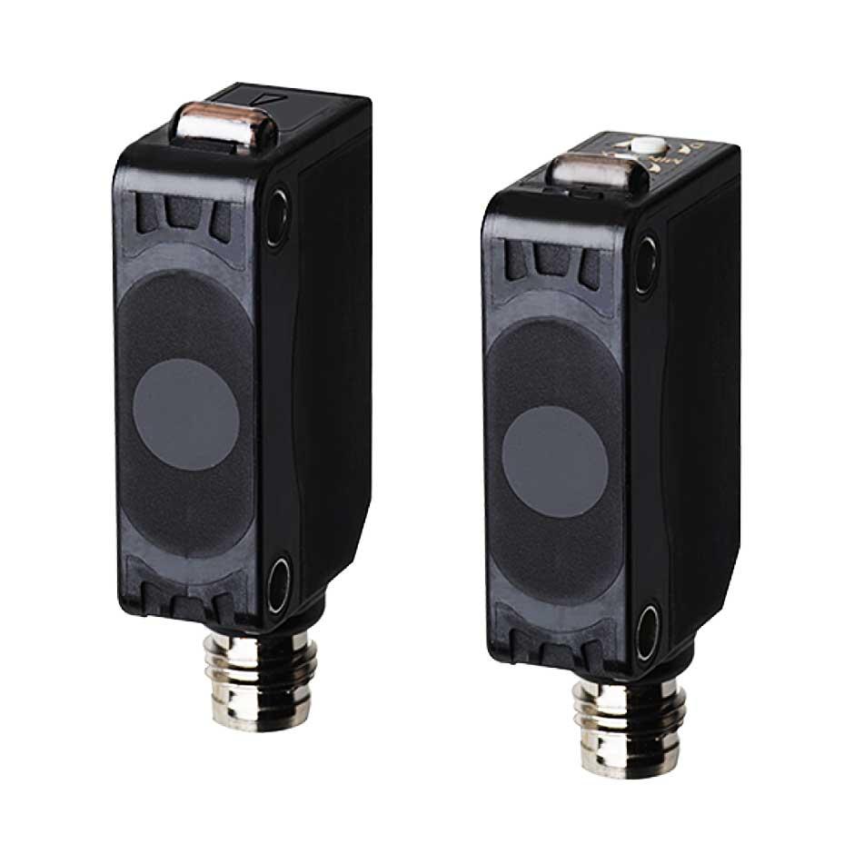 سنسور نوری دو طرفه سه سیمه NPN با تغذیه 24-12 ولت DC و فاصله تشخیص 15 متری BJ15M آتونیکس