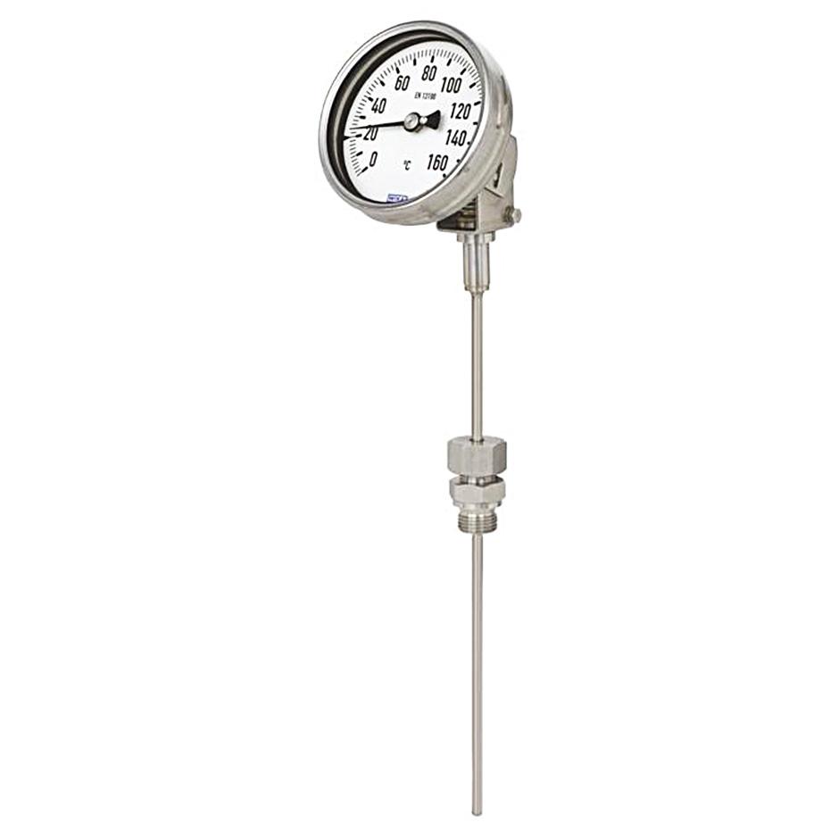 گیج دما (ترمومتر) بی متال ویکا 20- تا 60+ درجه سانتیگراد صفحه 16سانتی طول 100 میلی متر قطر 6 میلی متر مدل S5551