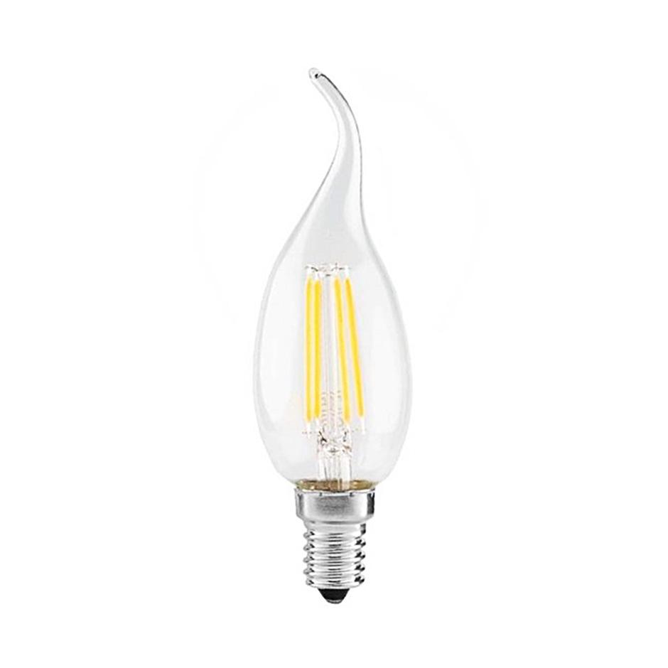 لامپ فیلمانی 4 وات اشکی سفید ای دی سی