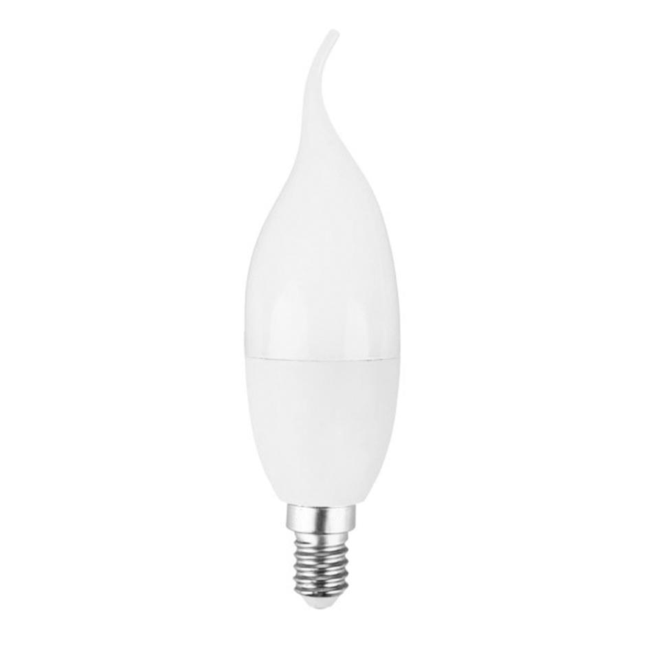 لامپ شمعی مات 6 وات سفید ای دی سی