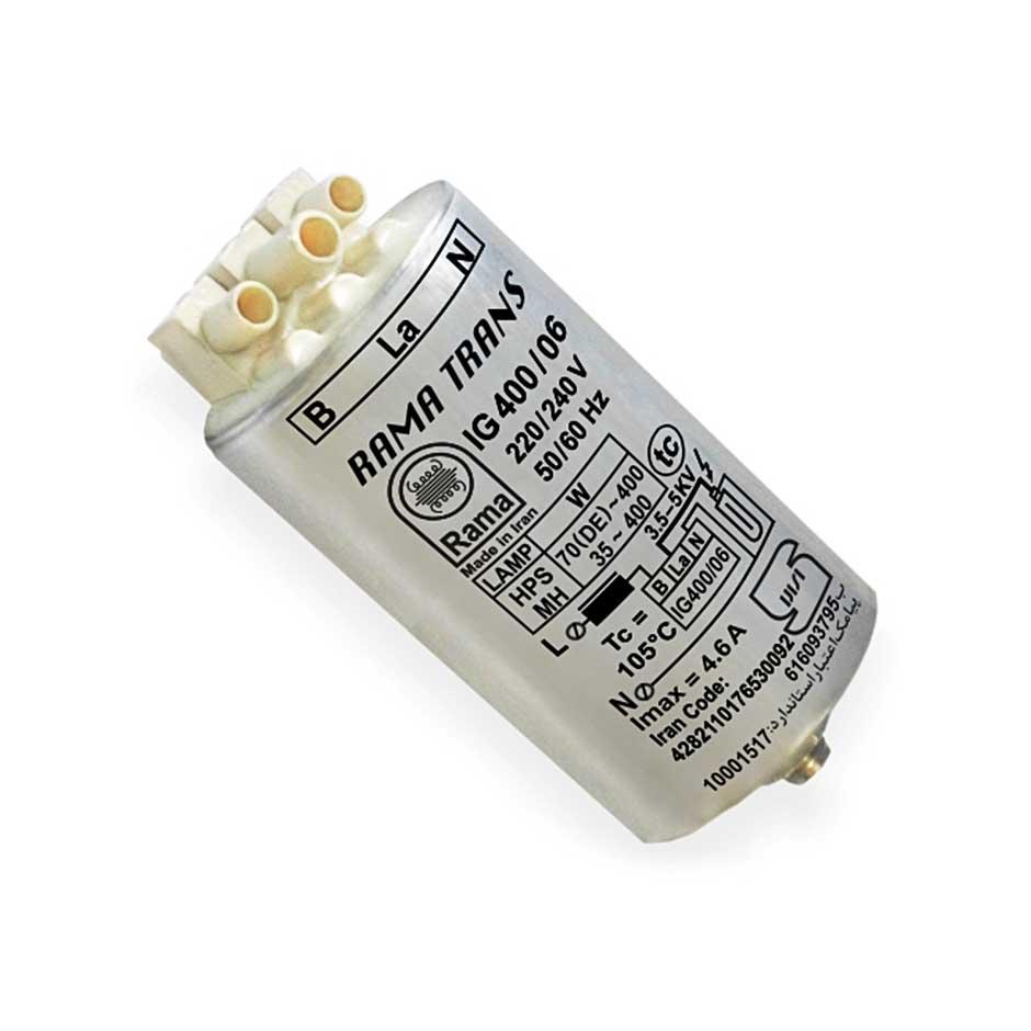 ایگنایتور (استارتر) الکترونیکی سوپر ایمپوزد 400-70سدیم/ 400-35 متال هالید با قاب آلومینیوم راما