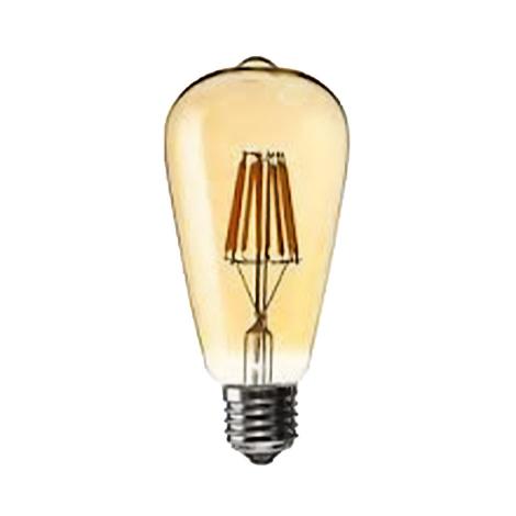 لامپ حبابی فیلمانی خمره ای 8 وات Gold آفتابی ای دی سی