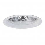 چراغ LED دانلایت توکار سفید 19 وات مهتابی با دهانه 20 سانتی متر و صفحه شیری ساتن دیانا مازی نور