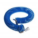 شیلنگ فنری پنوماتیک(هوا) و آب با سایز 8 میلیمتر و طول 5 متر رنگ آبی پارس نیوماتیک