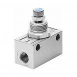 شیر کنترل جریان پنوماتیک (فلو کنترل) سایز دنده 1/8 اینچ فستو مدل GRA