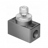 شیر کنترل جریان پنوماتیک (فلو کنترل) سایز دنده 1/2 اینچ فستو مدل GR