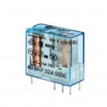 رله شیشه ای بوبین حساس پایه کوتاه 1 کنتاکت 24 ولت مستقیم 16 آمپر فیندر