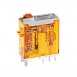 رله شیشه ای 2 کنتاکت 24 ولت مستقیم 8 آمپر دارای نشانگر مکانیکی فیندر