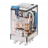 رله شیشه ای 3 کنتاکت 24 ولت مستقیم 10 آمپر دارای دیود و LED فیندر