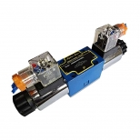 شیر کنترل جهت هیدرولیک 4/3 وسط بسته سایز 1/4 دو بوبین 220 ولت هیدرونوا