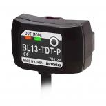 سنسور نوری دو طرفه سه سیمه PNP با تغذیه 24-12 ولت DC و فاصله تشخیص 13 میلی متری BL13 آتونیکس