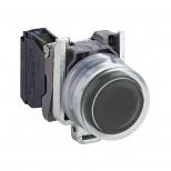 پوش باتن فلزی مشکی 22 میلیمتری برآمده کنتاکت باز مدل XB4 اشنایدر الکتریک