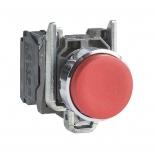پوش باتن فلزی قرمز 22 میلیمتری کنتاکت بسته بازگشت فنری با سری برآمده مدل XB4 اشنایدر الکتریک
