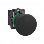 پوش باتن پلاستیکی مشکی 40 میلیمتری کنتاکت باز بازگشت فنری با سری قارچی مدل XB5 اشنایدر الکتریک