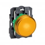 چراغ سیگنال LED زرد پلاستیکی 24 ولت DC/AC اشنایدر الکتریک