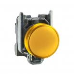 چراغ سیگنال LED زرد فلزی 24 ولت DC/AC اشنایدر الکتریک