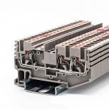 ترمینال فشاری یک ورودی دو خروجی سایز 2.5 رعد