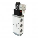 شیر برقی کنترل جهت پنوماتیک 5/2 سایز 1/4 تک بوبین 220 ولت اف ام اس مدل 5X2-B-Y