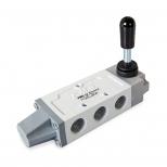 شیر اهرمی کنترل جهت پنوماتیک 5/3 سایز 1/4  اف ام اس مدل 5301KYK-K