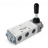 شیر اهرمی کنترل جهت پنوماتیک 5/2 سایز 1/4 اف ام اس مدل 5201K-Y