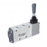 شیر اهرمی کنترل جهت پنوماتیک 5/2 سایز 1/4 قفلی اف ام اس مدل 52011K-K YAN