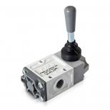 شیر اهرمی کنترل جهت پنوماتیک 3/2 سایز 1/4 قفلی اف ام اس مدل 3202K-K