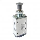 شیر دکمه ای (ژیانی) کنترل جهت پنوماتیک 5/2 سایز 1/4 برگشت فنری اف ام اس مدل 5200CY
