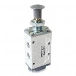 شیر دکمه ای (ژیانی) کنترل جهت پنوماتیک 5/2 سایز 1/4 قفلی اف ام اس مدل  5200C