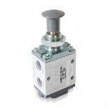 شیر دکمه ای (ژیانی)کنترل جهت پنوماتیک 3/2 سایز 1/4 برگشت فنری اف ام اس مدل 3200CY