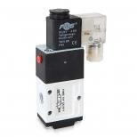 شیر برقی کنترل جهت پنوماتیک 3/2 سایز 1/4 تک بوبین 220 ولت اف ام اس مدل 3X2-B-Y
