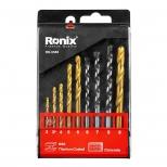 ست مته ترکیبی آهن و بتن 9 عددی رونیکس مدل RH-5585