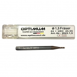 مته فرز انگشتی کارباید قطر 1.5 میلی متر اپتیمم