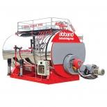 بویلر (دیگ) بخار تک کوره 3533 لیتر و 2500 کیلوگرم بر ساعت آب بند مدل sph-2500
