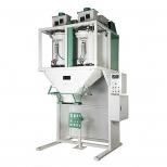 دستگاه پرکن اتوماتیک کیسه مواد گرانولی دو هاپر 25-10 کیلوگرمی استیل دارا الکترونیک مدل MDS-200-D