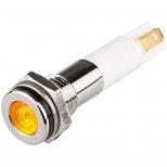 چراغ سیگنال LED زرد فلزی با قطر 8 میلمتری 12 ولت DC منیکس
